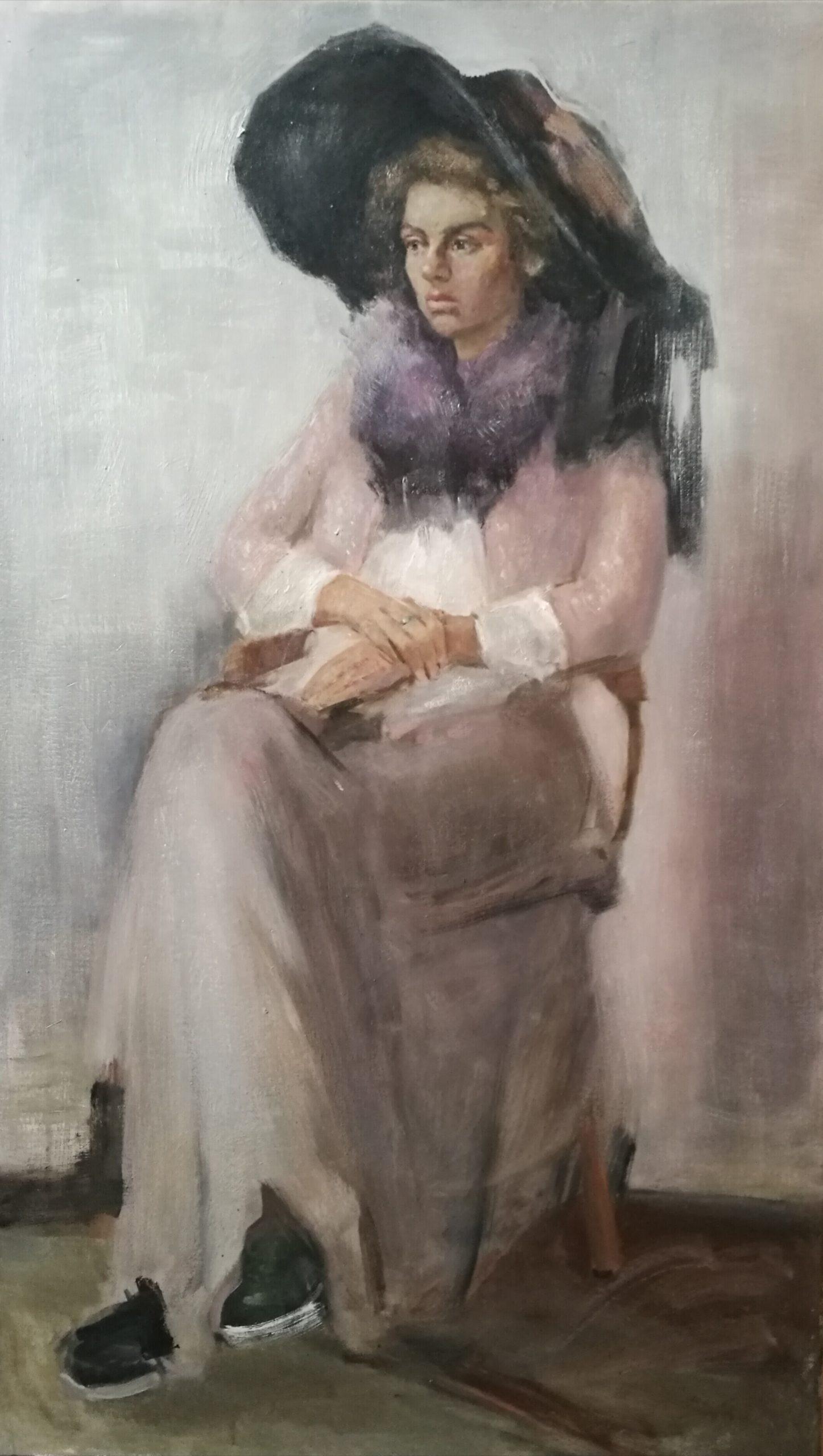 Muotokuva maalaus Anita