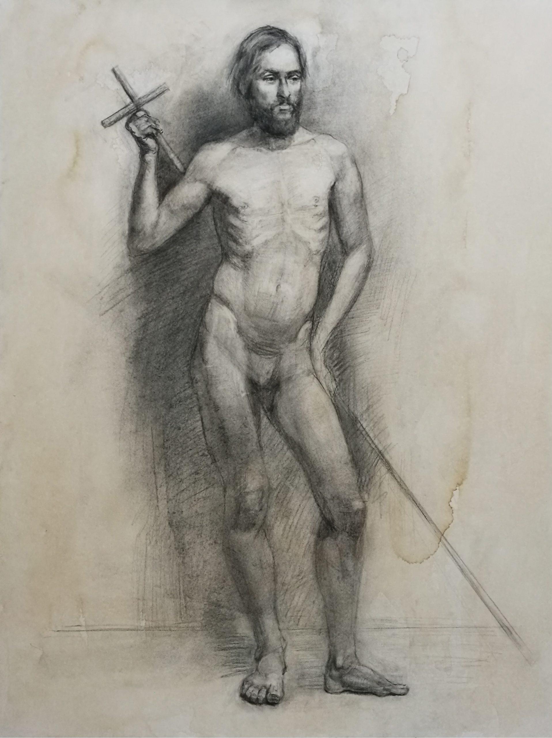 Taidemaalari piirustus