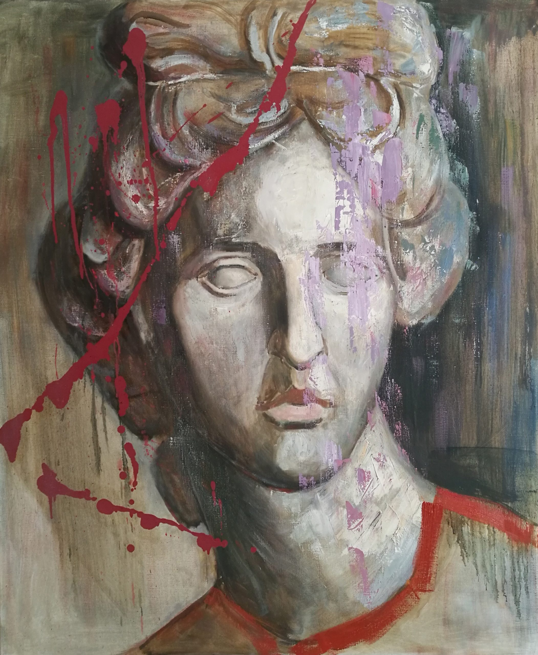 Oil painting Apollon